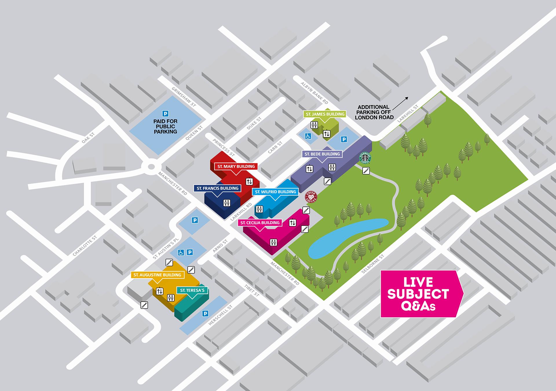 Cardinal Newman campus map