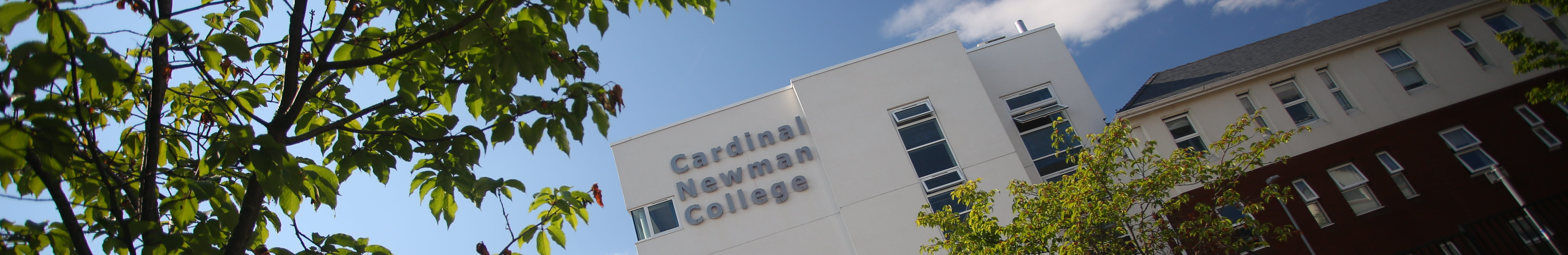 Cardinal Newman College - building signage